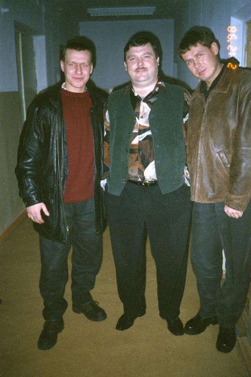 Сергей Давыдов, справа, с Михаилом Кругом, в середине. фото: из личного архива